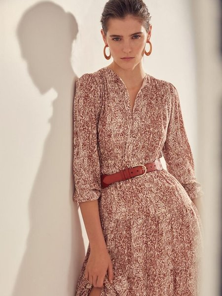 Suncoo Cameron Dress - Terracotta