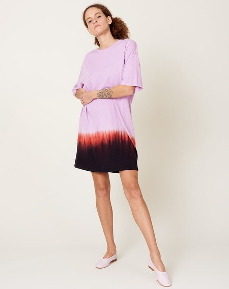 Raquel Allegra T-Shirt Dress - Purple Horizon Tie Dye