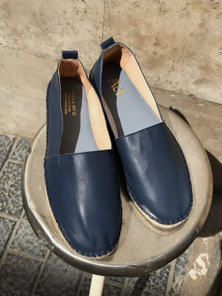 Act Series Berlin Arven Leather Espadrilles - Blue