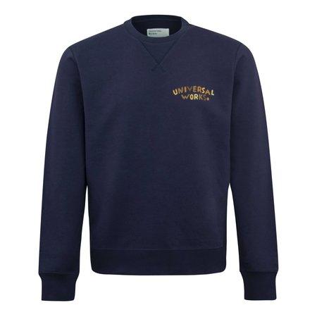 Universal Works Embroided Crewneck Sweatshirt - Navy