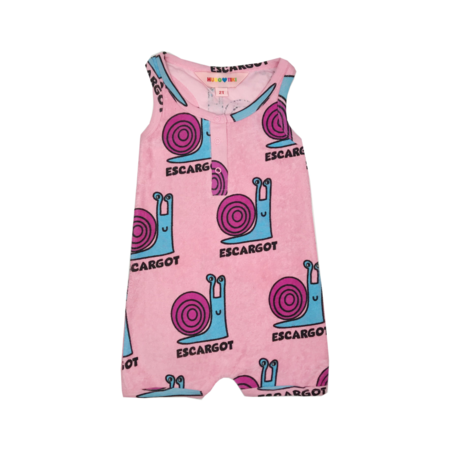 Kids Hugo Loves Tiki Snails Terry Romper