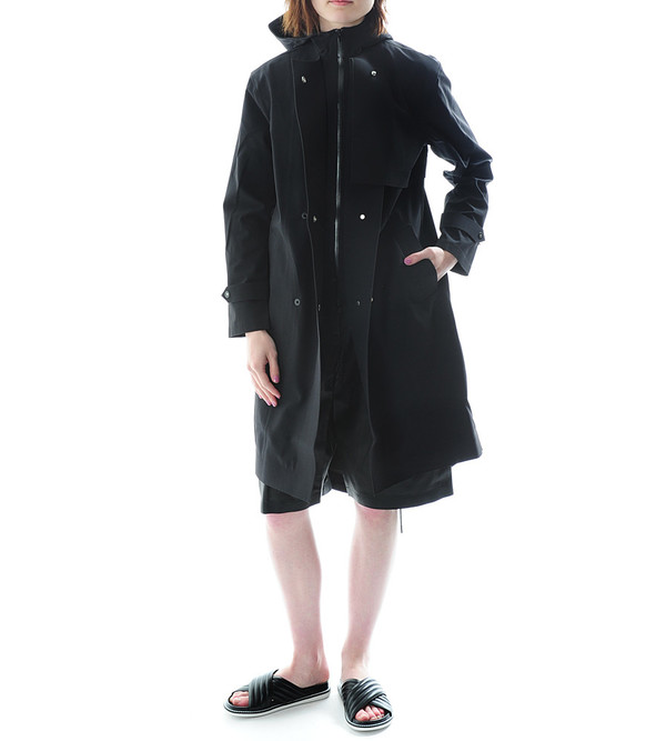 T By Alexander Wang Bonded Nylon Hooded Rain Coat