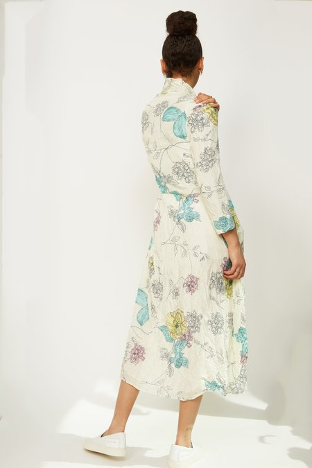 HAZEL BROWN Double Silk Dress - Floral