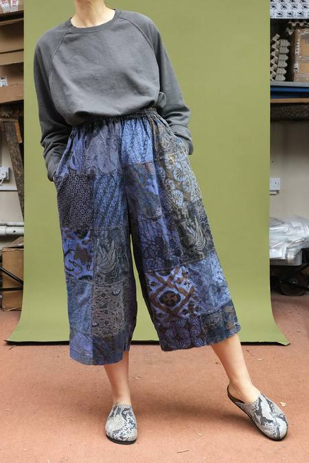 Vintage 1980s Batik Culottes - Multi