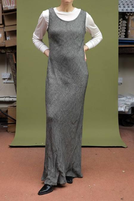 Vintage 1990s Monika Turtle Bias Cut Slip Dress - Gray