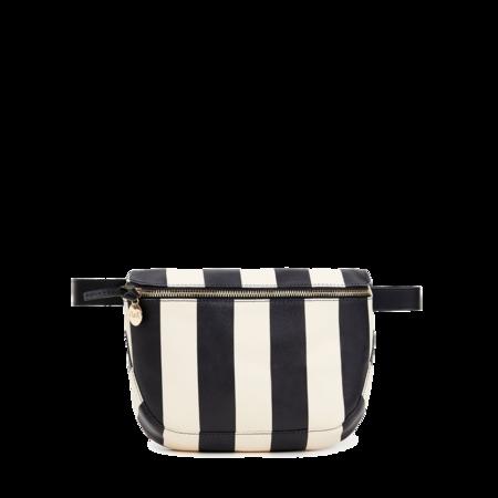 Clare V. Fanny Pack - Striped Vegan Black/Cream