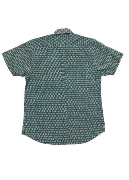 Dushyant Asthana The Sheril Shirt - Sea Green/Yellow