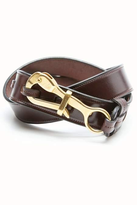 """Tory Leather 1 1/2"""" Pelican Belt - Havana"""