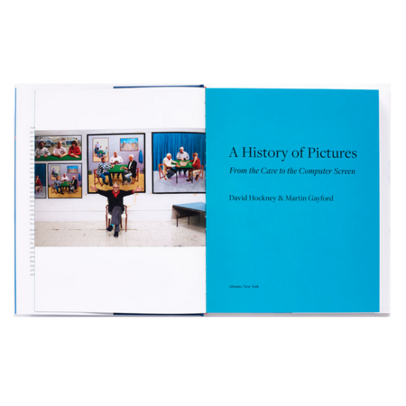 """Abrams """"A History Of Pictures"""" By David Hockney and Martin Gayford book"""