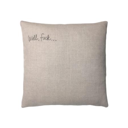 k studio Covid Response Pillow - Flax