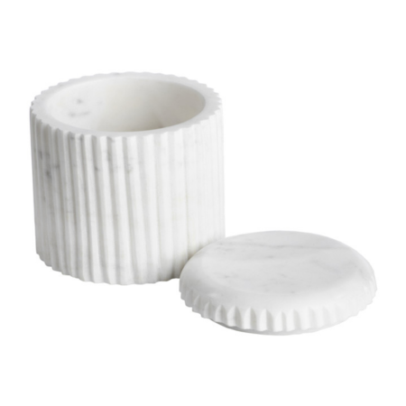 Zodax Marmo Marble Lidded Container - white