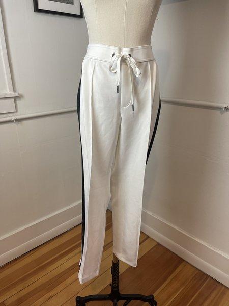 [pre-loved] Pam & Gela Racer Stripe Trousers - White