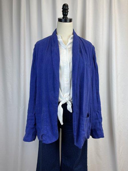 [pre-loved] Raqel Allegra Linen Blazer - Blue