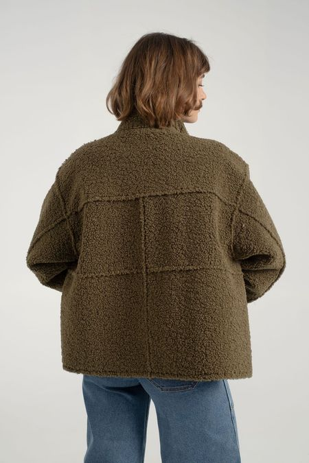 Stand Studio Hazel Short Coat - Army Green