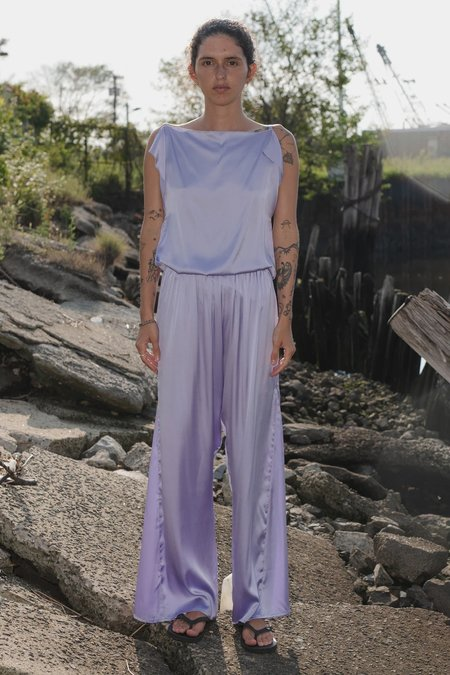 Baserange Silk Rey Top - Laguna Purple