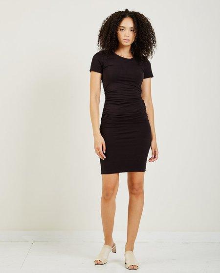 AR321 Ruched Dress - Black