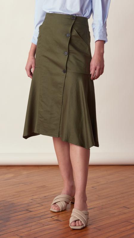 Derek Lam Nadia Full Skirt - Fatigue
