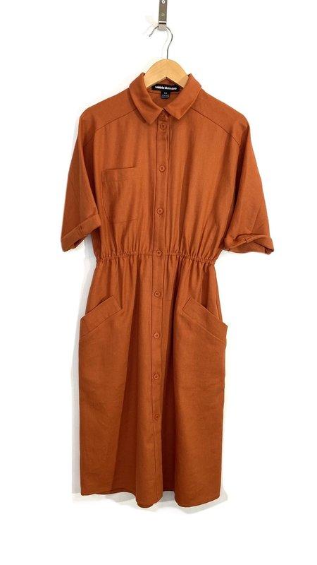 Valérie Dumaine Norma Dress - Rust