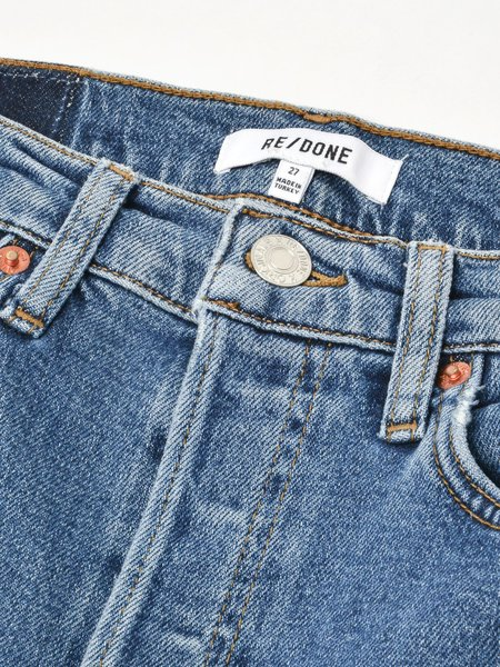 Re/done 90s High Rise Ankle Crop - Seventies