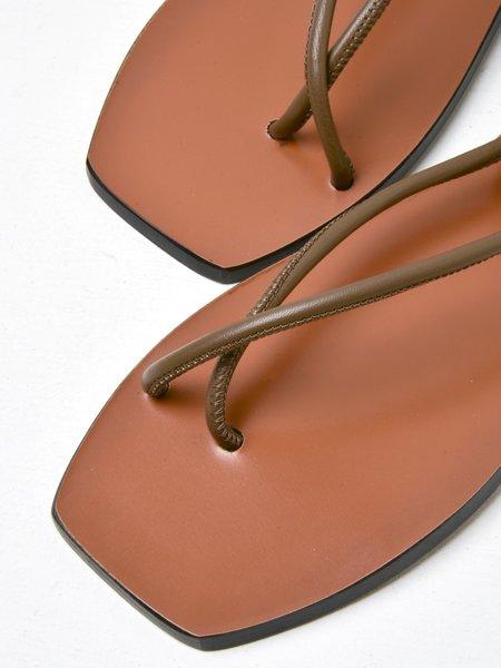 ATP Atelier Alezio Sandals - Khaki Brown Nappa