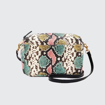 Clare V. Marisol Painted Snake Bag - Pastel