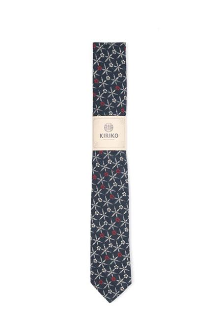Kiriko Indigo Floral Tie