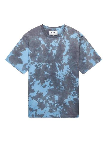 Wax London Reid Tee - Blue Tie-Dye