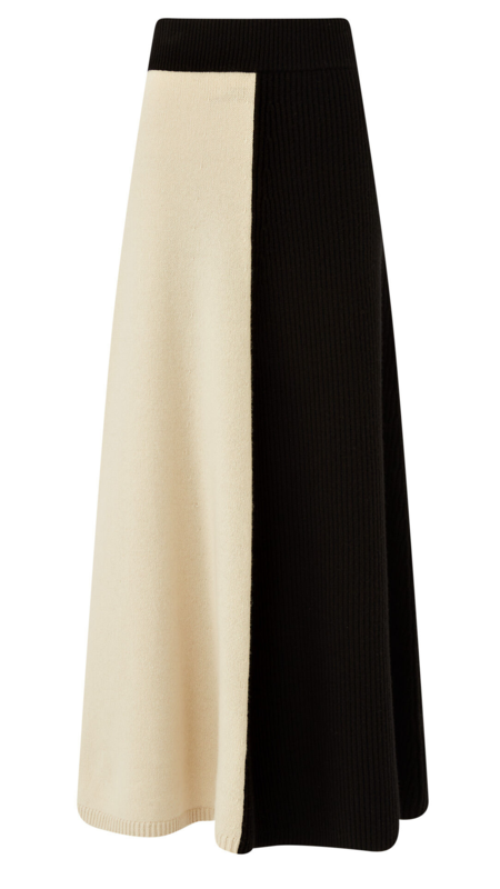 Joseph Soft Wool Skirt - Ivory Combo