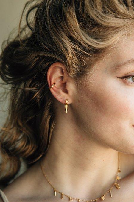 Sierra Winter Jewelry Desperado Earrings - Gold Vermeil/Opal