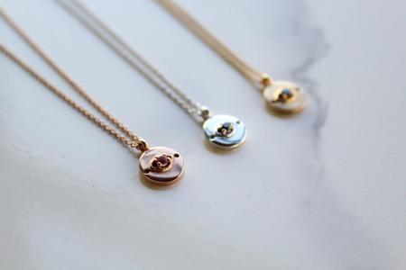 Sierra Winter Jewelry Evil Eye Necklace - Sterling Silver/Black Diamond