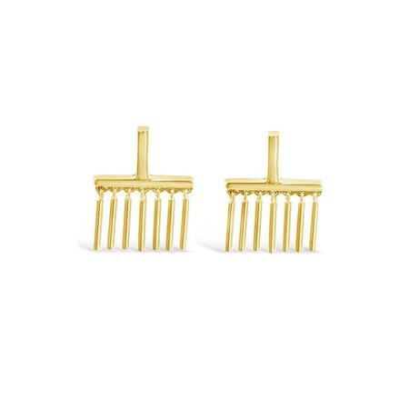 Sierra Winter Jewelry Felina Earrings - Gold Vermeil