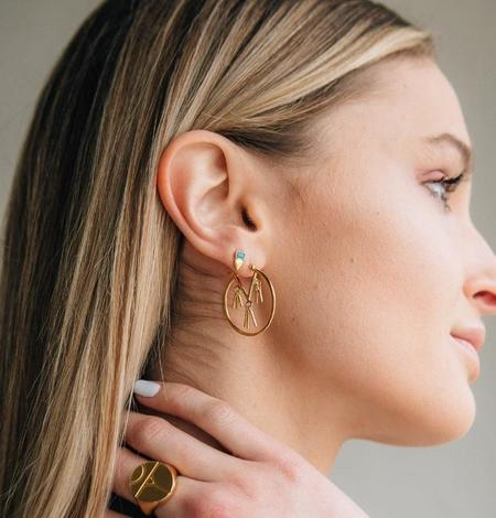 Sierra Winter Jewelry Foxy Stud Earrings - Gold Vermeil/Turquoise