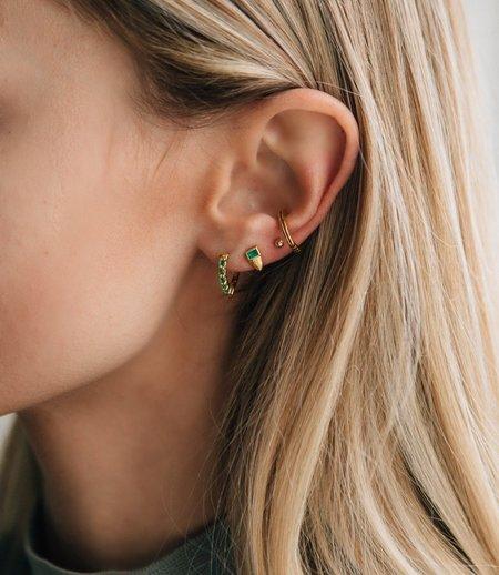 Sierra Winter Jewelry Foxy Stud Earrings - Gold Vermeil/Emerald