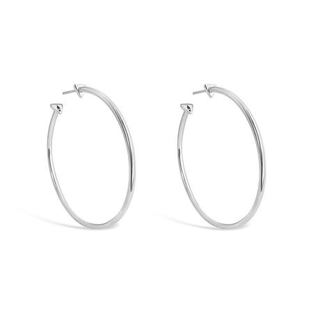 Sierra Winter Jewelry High Noon Hoop Earrings - Sterling Silver