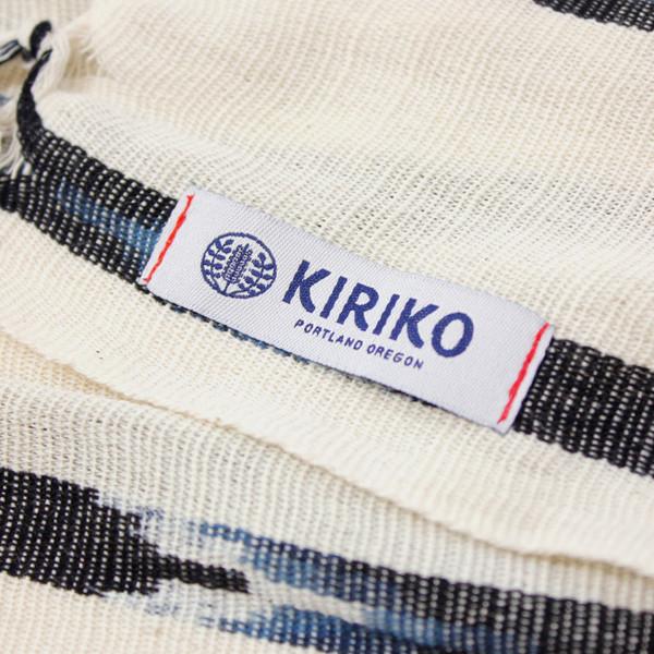 Kiriko Karu-Ori White & Black Scarf