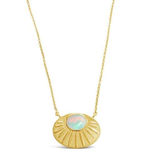 Sierra Winter Jewelry Solstice Necklace - Gold Vermeil/Opal