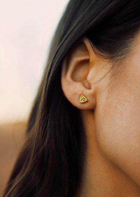 Sierra Winter Jewelry Stargazer Earrings - Gold Vermeil/Emerald