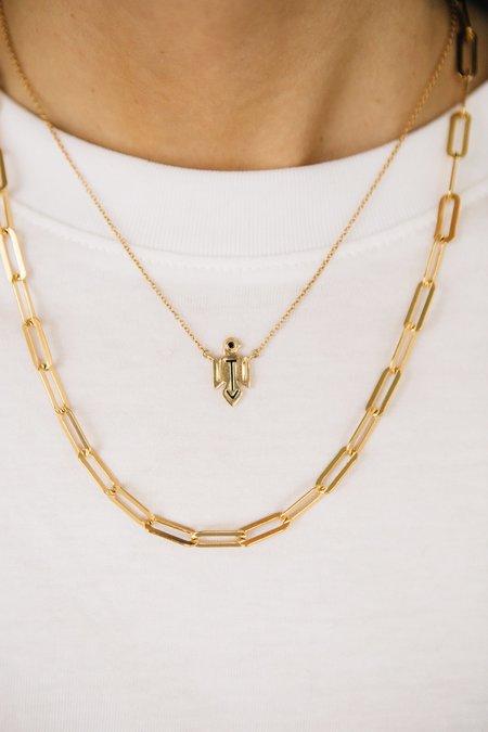 Sierra Winter Jewelry Thunderbird Necklace - Gold Vermeil/Black Diamond