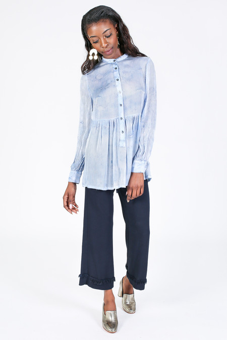 Raquel Allegra Empire Blouse in Sky