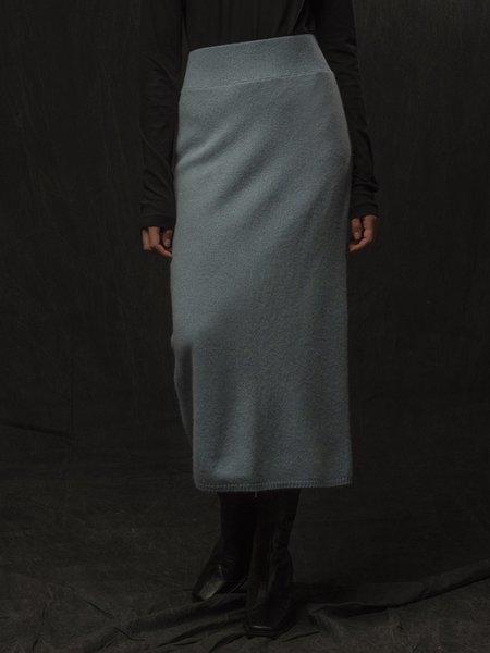 PURECASHMERE NYC Midi Skirt - Steel Blue