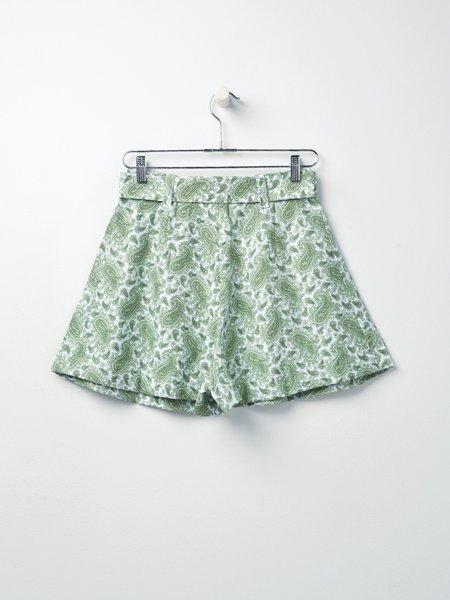 Faithfull The Brand Sable Short - Paisley Print/Green