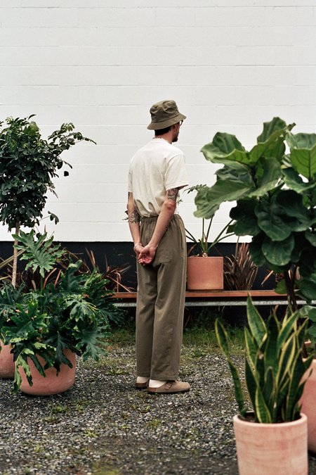 Satta Linen Flow Pants - Muted Olive