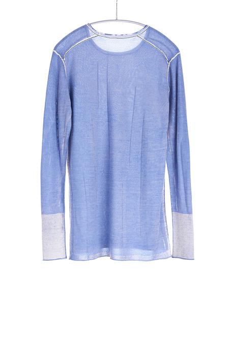 Paychi Guh Cashmere Silk L/S Crew - Summer Blue