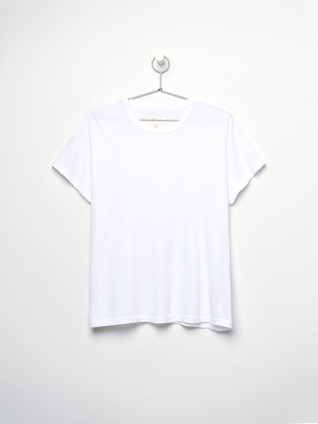 The Great. THE BOXY CREW top - TRUE WHITE