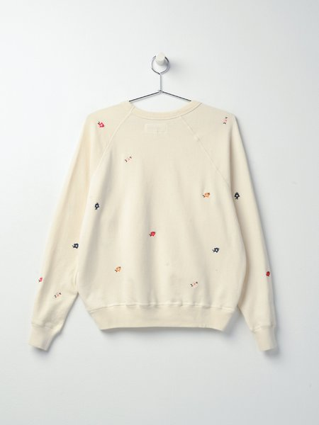 The Great. THE COLLEGE SEED FLORAL EMBROIDERY SWEATSHIRT -