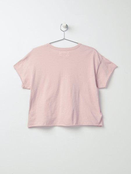 The Great. THE CROP TEE - PINK FROST