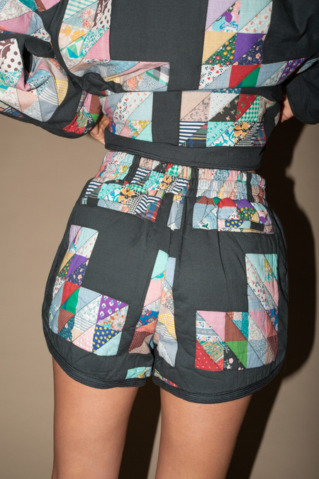 Sea NY Tilia Patchwork Quilted Shorts - Multi