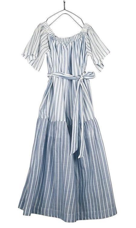 Mii Collection Handwoven Stripe Dress