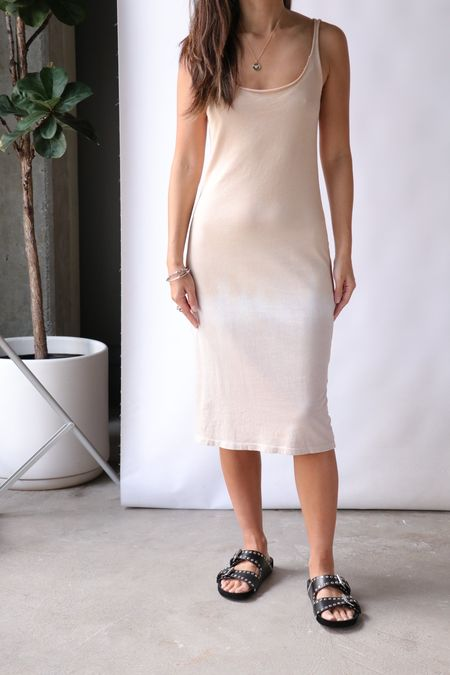 Raquel Allegra Layering Tank Dress - Gold Horizon