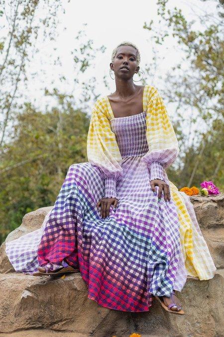 abacaxi Eva Dress - Cosmic Gingham